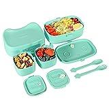 Fiambrera para Ninos, Bento Box Ninos con 3 Compartimentos, 860 ml de Capacidad Fiambrera Infantil, Apto para Microondas
