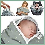 Snugglebundl Bumblebee - Mantita para bebé con asas, Mantita arrullo para bebés de 0 a 6 meses (organic) (S-1)