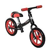 HOMCOM Bicicleta sin Pedales para Niños de +2 Años con Sillín Ajustable en Altura Neumáticos de EVA Carga Máx. 25 kg Metal 65x33x46 cm Negro