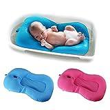 belupai Alfombrilla de baño para bebé recién nacido, plegable, para bañera, asiento de bañera y asiento de bebé(Rosa roja)
