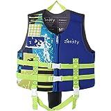 Zeraty Kids Chaleco Ayuda de natación para niños pequeños con Correa de Seguridad Ajustable Edad 1-9 años / 22-50 lbs/Azul