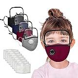 4 piezas Niños 𝓜𝓪𝓢𝓬𝒶𝓻𝓲𝓵𝓵𝒶𝓈 Con Gafas Reutilizable y Lavable Algodón linda Antipolvo, al aire libre Pack 8 unidades Almohadilla Filtro