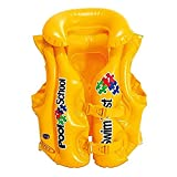 Intex 58660EU - Chaleco hinchable amarillo con hebillas 50 x 47 cm