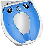 Reductor WC Niños - RIGHTWELL Tapa plegable wc niños, Orinal Portatil Plegable con 8 Alfombras Antideslizantes, Ideal para Compacto y Portátil para Viajes (Azul)