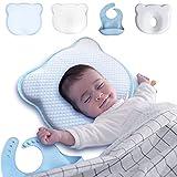 Almohada Plagiocefalia y Antireflujo para la Cabeza del Bebe de 1 Año - Cojín Antivuelco Bebe para Cuna de Viaje - Pack x4 Cojín de Prevenir y Curar la Cabeza Plana de Bebes Recién Nacidos en Moises