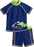 Playshoes UV-Schutz Bade-Set Krokodil Bañador, Azul (Marine 11), 86 (Talla del Fabricante: 86/92) para Niños