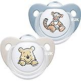 NUK Trendline - Chupete de silicona sin BPA, de 0 a 6 meses, 2 unidades, diseño de Winnie the Pooh de Disney, color azul