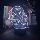 Lámpara de ilusión 3D Luz de noche LED Anime Figura My Hero Academy Regalo de cumpleaños Adornos para bebés para dormitorio y habitación