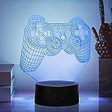 Luz nocturna 3D para niños, interruptor táctil Control remoto Cambio de 16 colores --Luces de la casa Regalos perfectos Festival de cumpleaños Navidad para bebés y adolescentes Amigos
