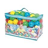 BESTWAY - Bolas de Colores para Piscina de Bolas Hinchable 100 Unidades de PVC con Bolsa de Transporte 4 Colores Azul, Amarillo, Verde y Rosa Diámetro 6,4 cm