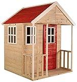 Wendi Toys M6 Casitas de madera infantiles   120 x 120 x 155 cm Casa jardin niños   Rojo Casa de Juegos Infantil de Madera para Exteriores   Modulares Casita para Niños de Jardín para 3-7 años