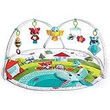 Tiny Love Meadow Days Dynamic Gymini - Gimnasio musical de actividades con juguetes electrónicos, grabadora con luces y música, alfombra bebé alcochada grande, Arcos ajustables moviles, 110 x 90 cm