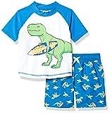 Simple Joys by Carter's traje de baño de 2 piezas para bebés y niños pequeños ,Dino azul ,3 años