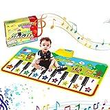 Alfombra de Piano, Alfombra Teclado Musical de Teclado Estera de Alfombra de Baile Táctil Alfombra Piano de Suelo Portátil Electrónico Educativo Juguete Regalo para Bebé Niño Niña (135 x60cm)