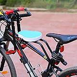 Asiento de Bicicleta Delantero para Niño | Asiento Infantil Delantero Plegable con Reposabrazos y Pedal | para Niños de 2 a 6 años - MAX 50 KG (Blue)
