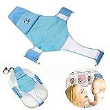Proca Asiento de baño para bebé recién nacido con red para bañera o ducha, malla de baño, soporte para asiento de cuna para bañera (azul)