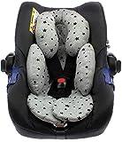 BEYBI® Reductor bebé punto algodón universal para capazo, silla coche grupo 0, silla de paseo y cuna