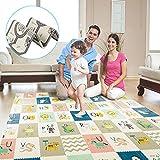TGTT Alfombrilla de juego para bebé, extra grande alfombra gateo Infantil ,Impermeable, no tóxica, antideslizante, plegable y reversible. (70 * 78 * 0.6pulgadas)