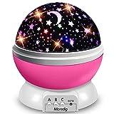 Moredig Lampara Proyector Infantil, 360° Rotación y 8 Modos Iluminación Proyector Estrellas, Luz de Nocturna para Niños y Bebés Cumpleaños, Día de los Reyes, Navidad, Halloween Rosa