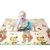 Alfombrilla para niños 196 x 177 x 1.35cm Alfombra plegable para juegos de bebés Doble Cara almohadilla para escalar
