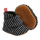 Aisprts Botas de bebé suaves antideslizantes suela zapatillas para bebés niños niñas invierno cálido acogedor primer caminar zapatos para cuna de 0 a 18 meses, A Negro 2, 6-12 meses