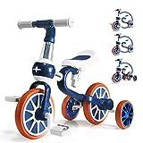 KORIMEFA Triciclos para Niños 4 en 1 Triciclos Bebes Triciclos evolutivos Bicicleta Bebe Triciclo Bicicleta para Niño y Niña de 1 a 4 años