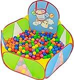 NUBUNI Piscina de Bolas : Piscina Infantil : Piscina Bolas para Parque Infantil : Piscina Bolas Bebe : Parque de Bolas : Mini Canasta Baloncesto Habitación B
