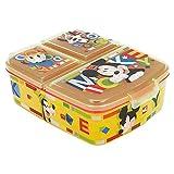MICKEY MOUSE (DISNEY)   Sandwichera con 3 compartimentos para niños - lonchera infantil - Porta merienda - Fiambrera decorada