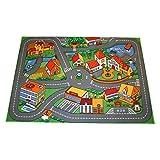 Associated Weavers Alfombra con diseño Quiet Town, Acrílico, Gris y Verde, 100 x 130 cm