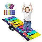Joyjoz Alfombra Musical de Piano con 100+ Sonidos, Alfombra de Baile 4 Modos, Alfombra de Teclado para Niños Instrumentos Juguetes Musicales para Niños Niñas 1 a 5 Años (110*36CM)