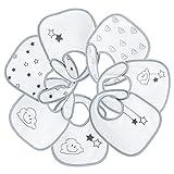 Tres Kilos Sept - Baberos mixtos, multicolor (blanco/gris)