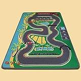 TAPITOM   Alfombra infantil circuito F1 - 95 x 133 cm   Alfombrilla de juego para circuito de coches   Alfombrilla infantil Formula 1 Road Universe   antideslizante, dobladillo   Normas CE