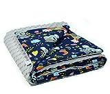 MoMika Manta de Bebé 75 x 100 cm - Manta Arrullo para Bebés Unisex - Microfibra y Tela de Algodón - Regalos Originales para Bebés Recién Nacidos y Baby Shower – Producto EU
