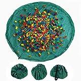 Bolsa de almacenamiento de juguetes niños el suelo y organizador de juguetes para casa y al aire libre portátil para bloque de construcción