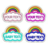 Personalizado arco iris bordado arco iris nombre etiqueta parche