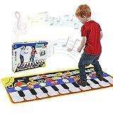 RenFox Alfombra de Piano, Alfombra Musical de Teclado, 5 Modes & 8 Sounds Touch Juego Musical para niños Regalo(110 * 36 cm)