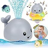 Juguetes Baño para Bebés, Juguete Rociador Agua Ballena Inducción Eléctrica 2 en 1, Juguetes Divertidos para El Baño con Música y Luces Intermitentes, Juguetes Ducha para 1,2,3,4,5 años niños niñas