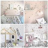 WandSticker4U® 60 estrellas plata pegatinas de pared Niños-Habitación-Bebés