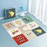 Star Ibaby Alfombra Puzzle para bebés Animals - Espesor 1.5 cm., Antideslizante, Extragrande, Reversible, Impermeable, portátil, de Doble Cara, para niños pequeños y bebés (165x165x1.5cm)