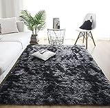 Alfombras de Interior Modernas Ultra Suaves, alfombras mullidas para Sala de Estar, adecuadas para el Dormitorio de los niños, decoración del hogar, alfombras de guardería (Gris Oscuro, 80 x 120 cm)