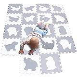 MQIAOHAM alfombra puzzle bebe parque infantil manta suelo grande goma eva acolchada alfombras acolchadas juegos bebes manta tapete zona P051BH