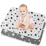 SunTop Cambiador de pañales portátil para bebé, Almohadilla De Cuna Impermeable Para Niños, Cambiador de Pañales Plegable Colchón Bebé Lavables Cama Para Bebés-50*70cm
