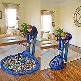 Bolsa de Almacenamiento de Juguetes para niños, Alfombra de Juego Organizer para Juegos de niños, Juguetes de Niños una Limpieza más Rápida (Azul, 150 cm)