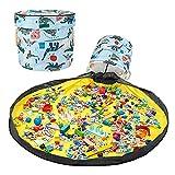 Bolsa de Almacenamiento de Juguetes Upkey Kids Toys Organizer Storage Children Play Mat Bolsa de Juguetes para Niños Juguete del Niño Alfombra Organizador Bolsa Juguetes Almacenaje de Limpieza Rápida