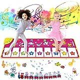 joylink Alfombra de Piano, Alfombra Musical Teclado Alfombra Musical para Niños Alfombra Musical de Teclado con 8 Teclas y 8 Sonidos de Animales para Bebé Niño Niña (100*36cm) (Púrpura)