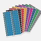 Etiquetas para ropa personalizadas Stikets® con 1 línea de texto para marcar todas las prendas de los niños para el cole o la guardería (48)